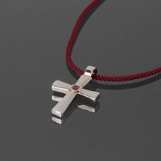 Золотой крест с рубином