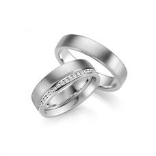 Обручальные кольца с бриллиантами, артикул 0266