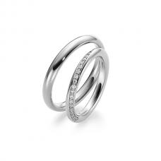 Обручальные кольца с бриллиантами, артикул 0267