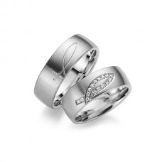 Обручальные кольца с бриллиантами, артикул 0269