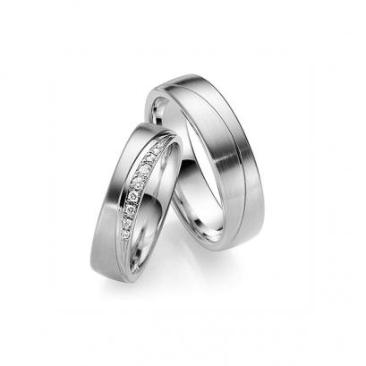 Обручальные кольца с бриллиантами, артикул 0271