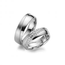 Обручальные кольца с бриллиантами, артикул 0276
