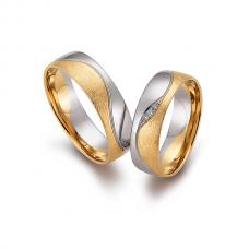 Обручальные кольца с бриллиантами, артикул 0277