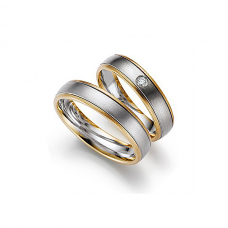 Обручальные кольца с бриллиантами, артикул 0278