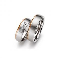 Обручальные кольца с бриллиантами, артикул 0280