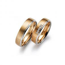 Обручальные кольца с бриллиантами, артикул 0281