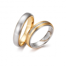 Обручальные кольца с бриллиантами, артикул 0283
