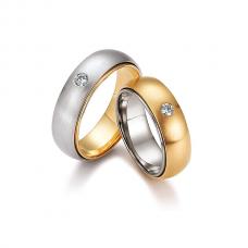 Обручальные кольца с бриллиантами, артикул 0284