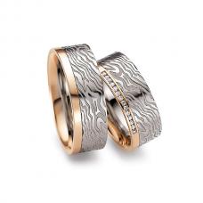 Обручальные кольца с бриллиантами, артикул 0285