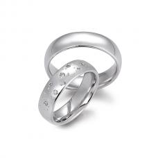Обручальные кольца с бриллиантами, артикул 0290