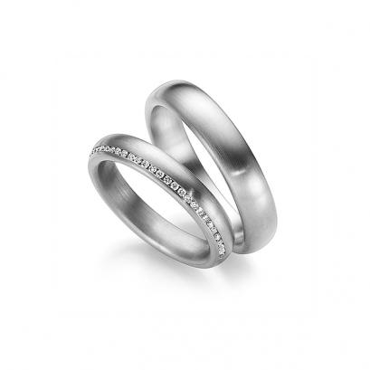 Обручальные кольца с бриллиантами, артикул 0292