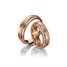 Обручальные кольца с бриллиантами, артикул 0294