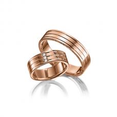 Обручальные кольца с бриллиантами, артикул 0295r