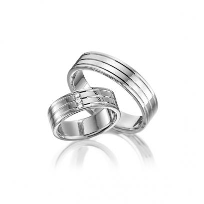 Обручальные кольца с бриллиантами, артикул 0295