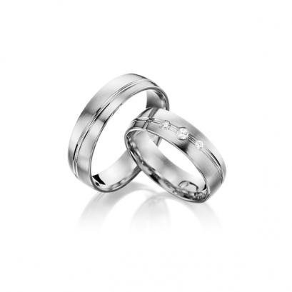 Обручальные кольца с бриллиантами, артикул 0297