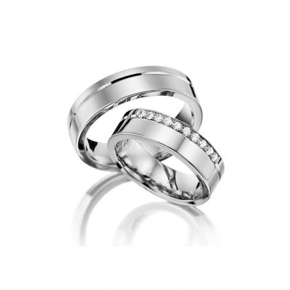 Обручальные кольца с бриллиантами, артикул 0298