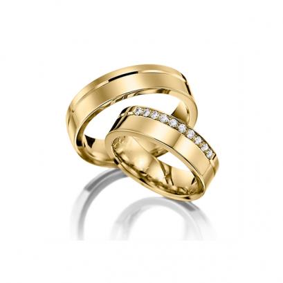 Обручальные кольца с бриллиантами, артикул 0298Y