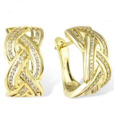 Золотые серьги с брилиантами