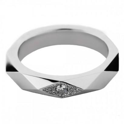 """Обручальное кольцо с бриллиантом """"Симона"""""""