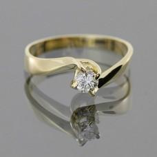 """Золотое кольцо с бриллиантом """"Франческа"""""""