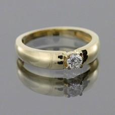 """Золотое кольцо с бриллиантом """"Роза"""""""