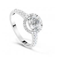 Золотое кольцо с бриллиантами W 0187