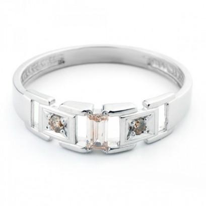 """Золотое кольцо с бриллиантами """"Текус"""""""