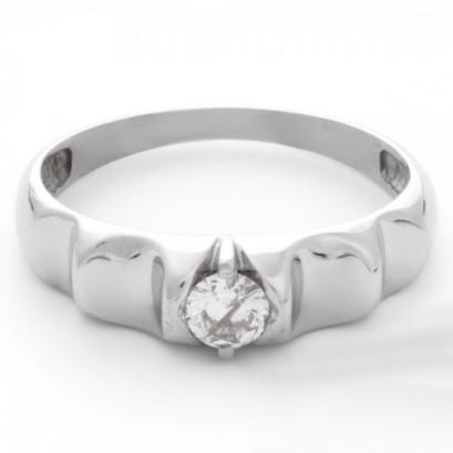 """Золотое кольцо с бриллиантом """"Веста"""""""