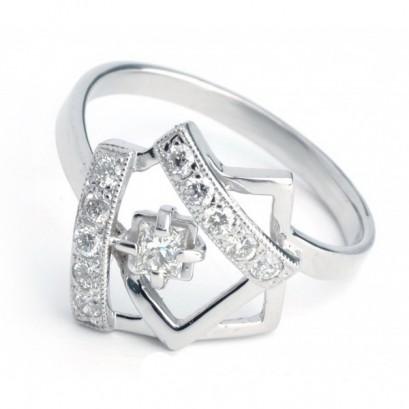 """Золотое кольцо с бриллиантами """"Мадлен"""""""