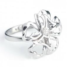 """Золотое кольцо с бриллиантом """"Флория"""""""